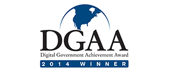 Proud Recipient of 2014 DGAA Award for Digital Government